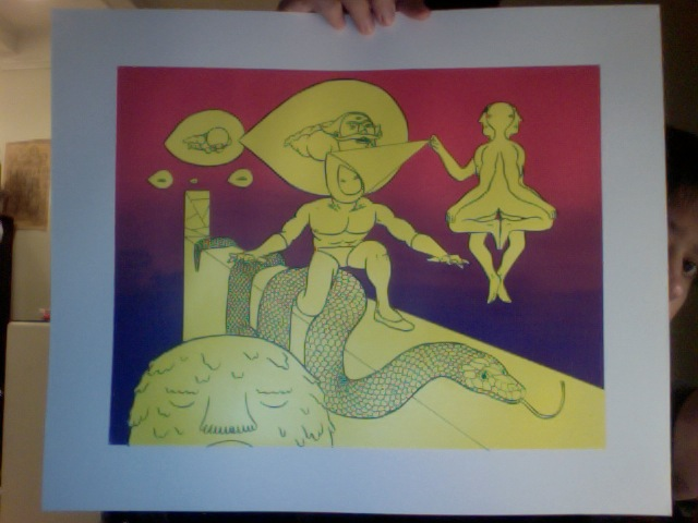 I will have these screen prints at APE